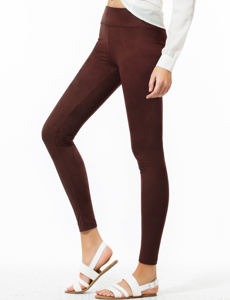 56f754cc922dfe Womens Basic Stretchy Slim Fit Soft Suede Long Leggings Pants (WL4248) |  2Sable
