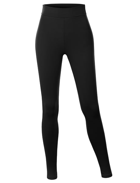 Womens Cotton Jersey High Waist Fold Over Ankle Length Yoga Legging Pants (WL4712)