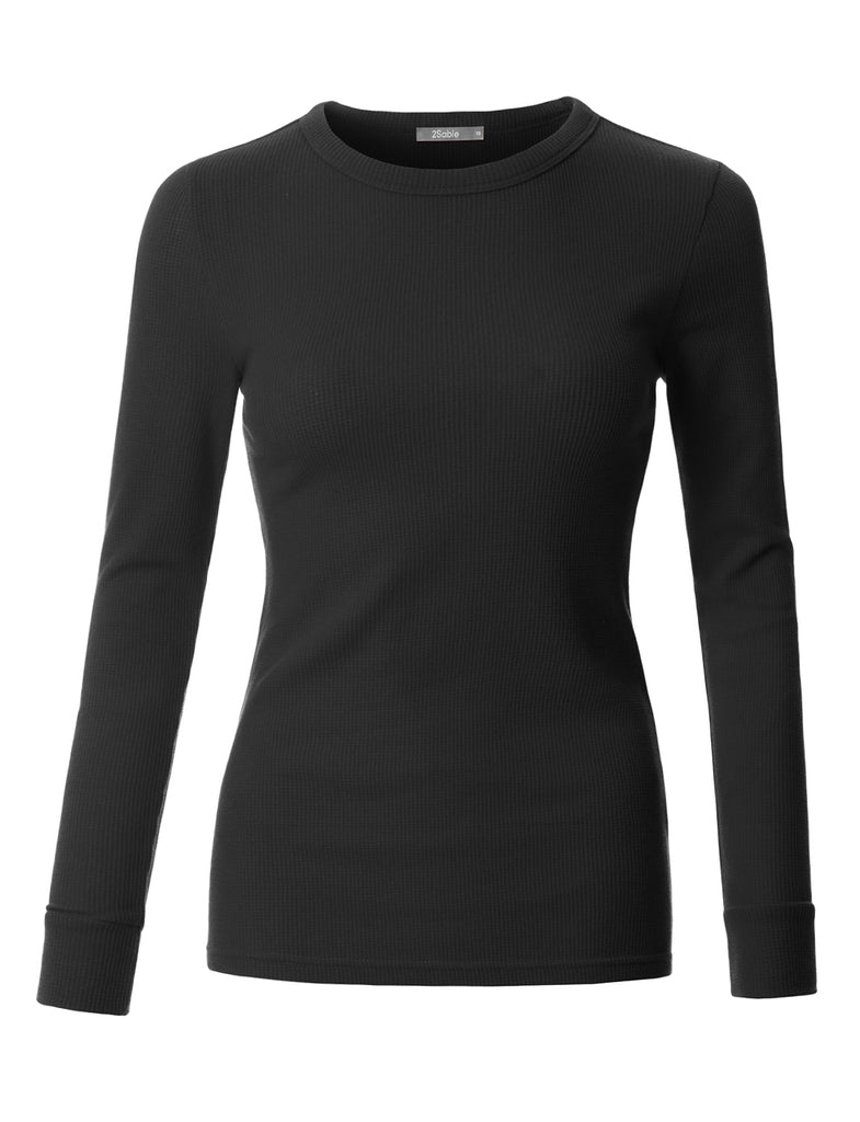 bd27ba23cf LE3NO Womens Plus Size Fitted Long Sleeve Round Neck Ribbed Knit Thermal  Shirt (WT3670P). NAVY NAVY NAVY NAVY NAVY NAVY BLACK ...