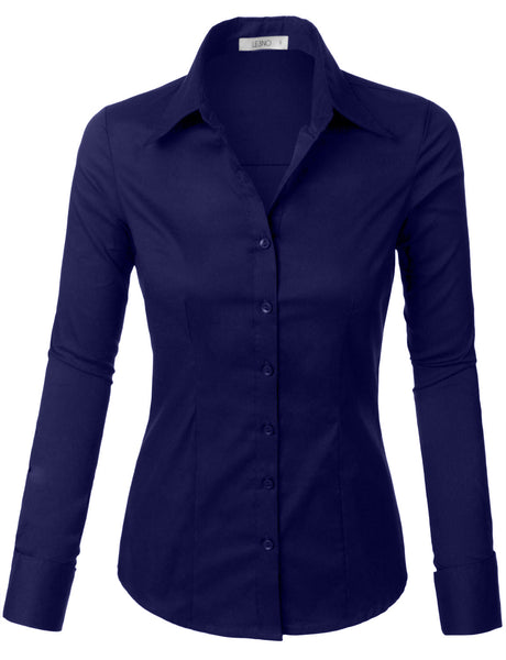 Womens Lightweight Button Down Shirt with Stretch (WT573A)