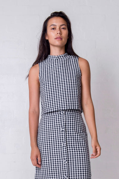 Gingham Charlie Top