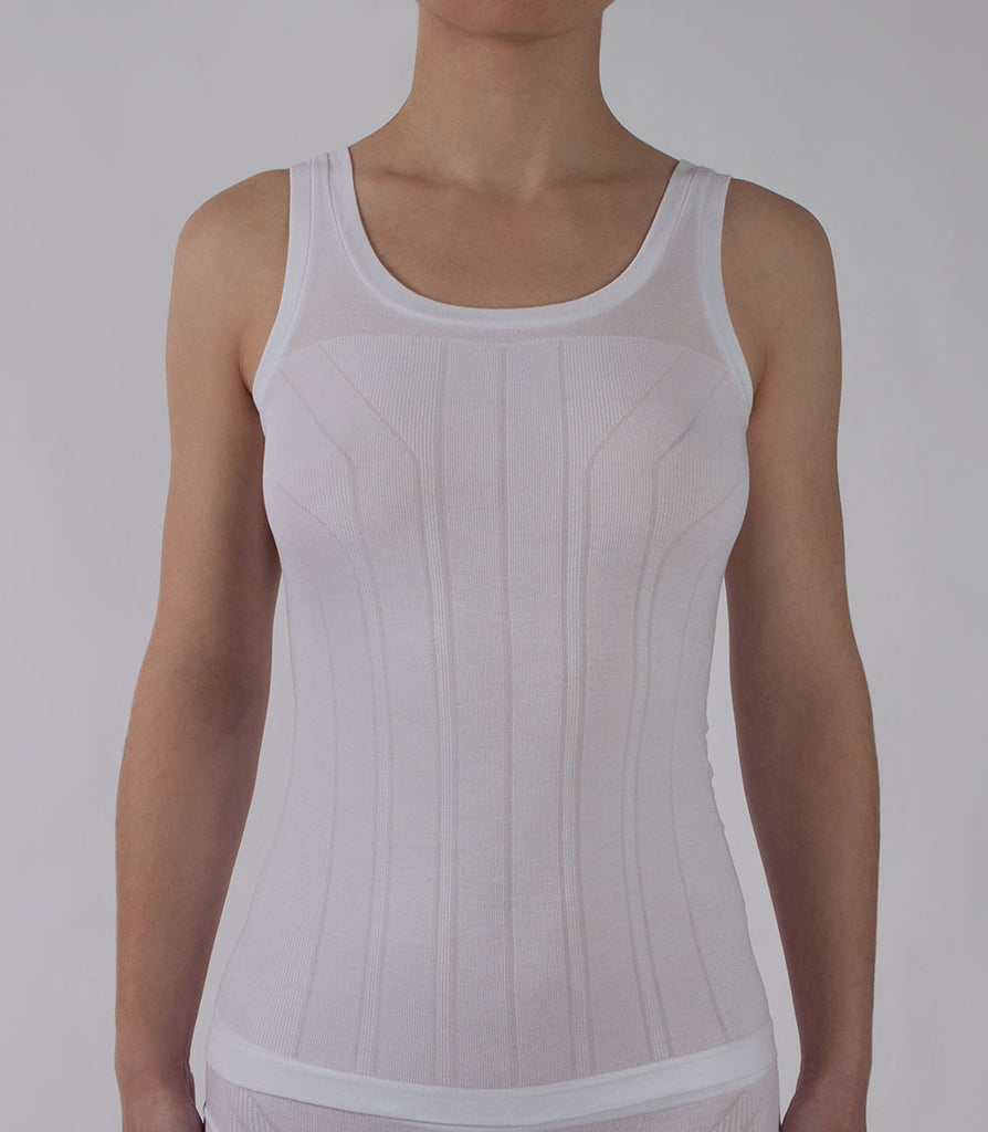 White Tank Top Front - PURE Seamless