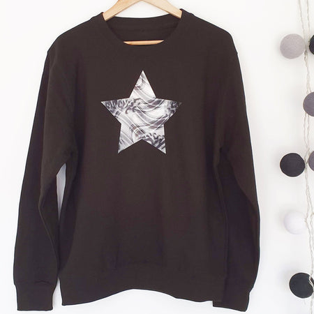 Abstract Star Boyfriend Classic Sweat - Black