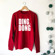 Bold DING DONG Womens Boyfriend Sweat Red/White
