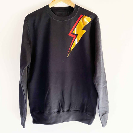 Bowie Bolt Golden Boyfriend Classic Sweat - French Navy