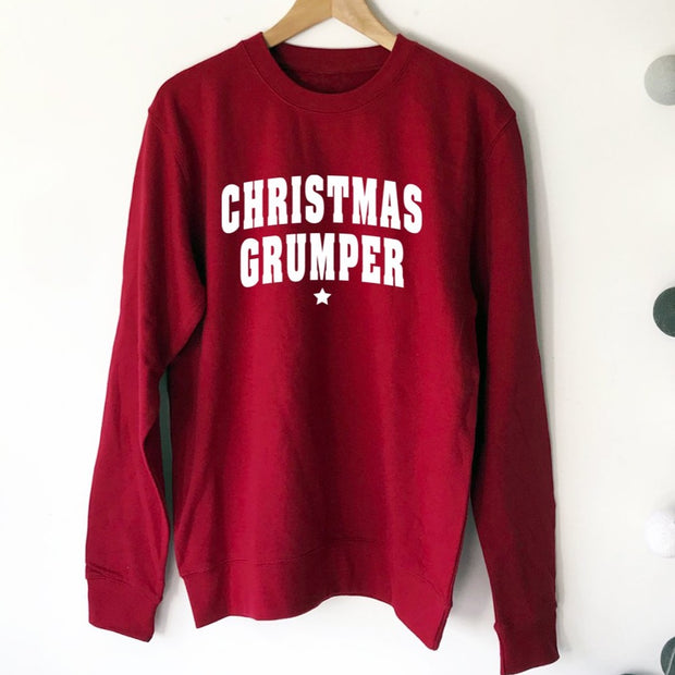 CHRISTMAS GRUMPER MENS Sweatshirt - Red / White