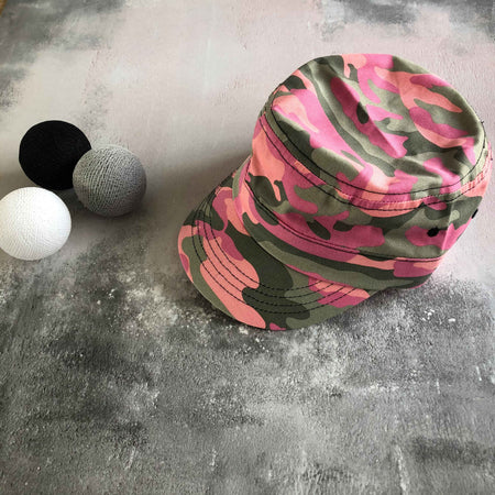 Cotton Camo Cap - Pink Camo