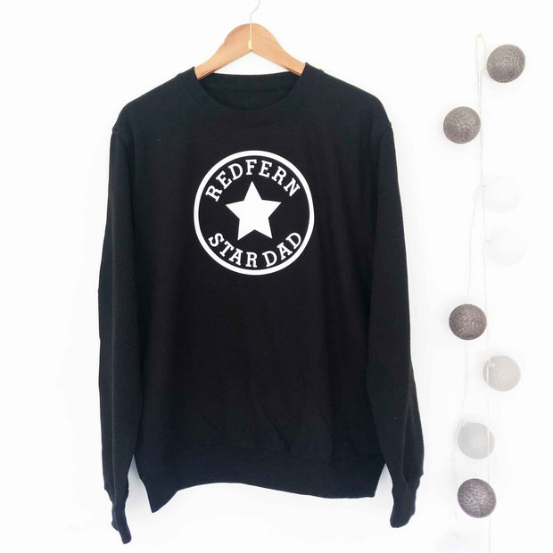 Star Dad Custom Mens Sweat - Black