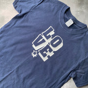 SAMPLE LOVE Tee NAVY/ WHITE