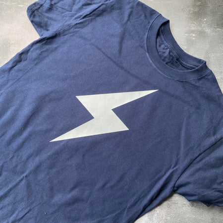 SAMPLE FLASH Tee NAVY/ WHITE
