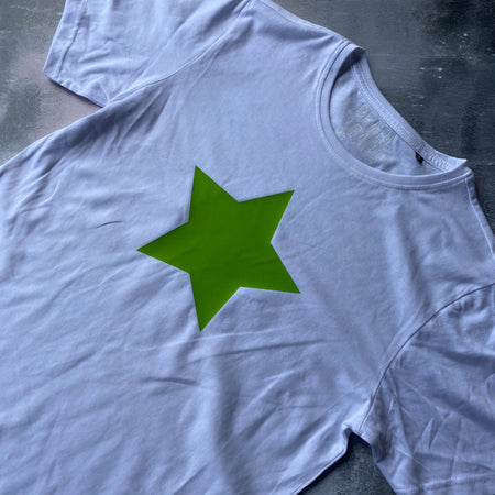 SAMPLE Organic Cotton Star Tee WHITE/ GREEN