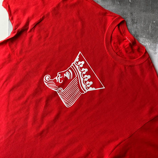 SAMPLE MENS Cotton King Tee RED
