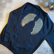 Angel Wings Sweat - French Navy