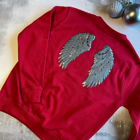 Angel Wings Sweat - Chilli Red