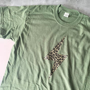 SAMPLE SALE Metallic Leopard Flash Olive / Gold