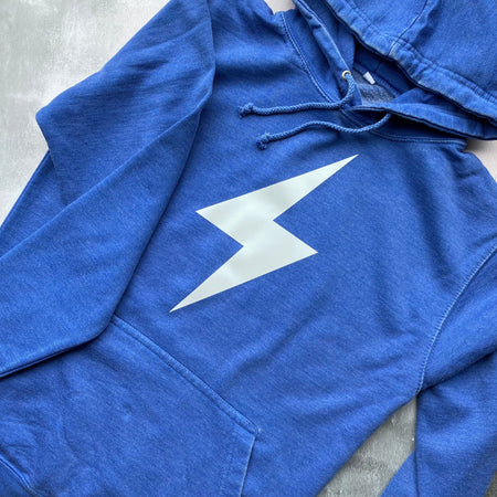 SAMPLE BOLT Boyfriend Fit Hoodie - VINTAGE WASHED BLUE