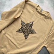 SAMPLE STAR Boyfriend Fit Sweat SAND/ LEOPARD