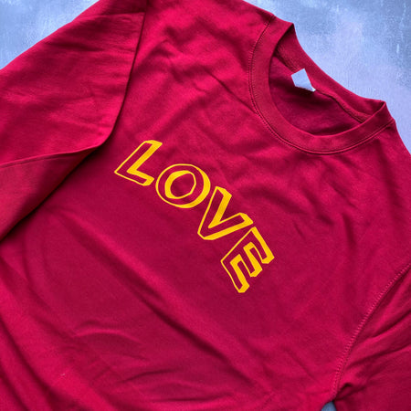 SAMPLE LOVE Boyfriend Fit Sweat CHILLI/ YELLOW