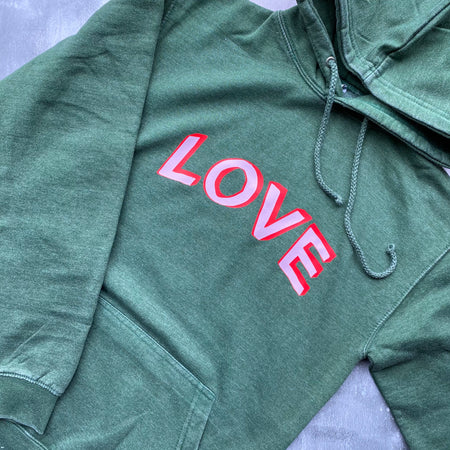 SAMPLE LOVE Boyfriend Fit Hoodie - VINTAGE WASHED GREEN