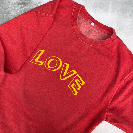 SAMPLE LOVE Boyfriend Fit Sweat WASHED VINTAGE RED