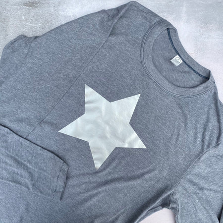 SAMPLE STAR Vintage Jersey Long Sleeved Top VINTAGE BLUE