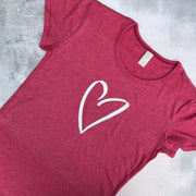 SAMPLE HEART Vintage Ultimate Basic Tee VINTAGE PINK