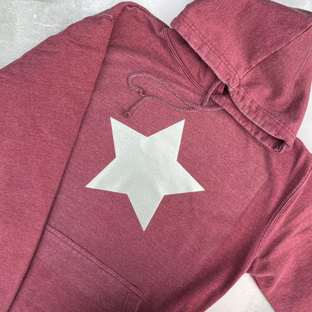 SAMPLE STAR Boyfriend Fit Hoodie - VINTAGE WASHED BURGUNDY