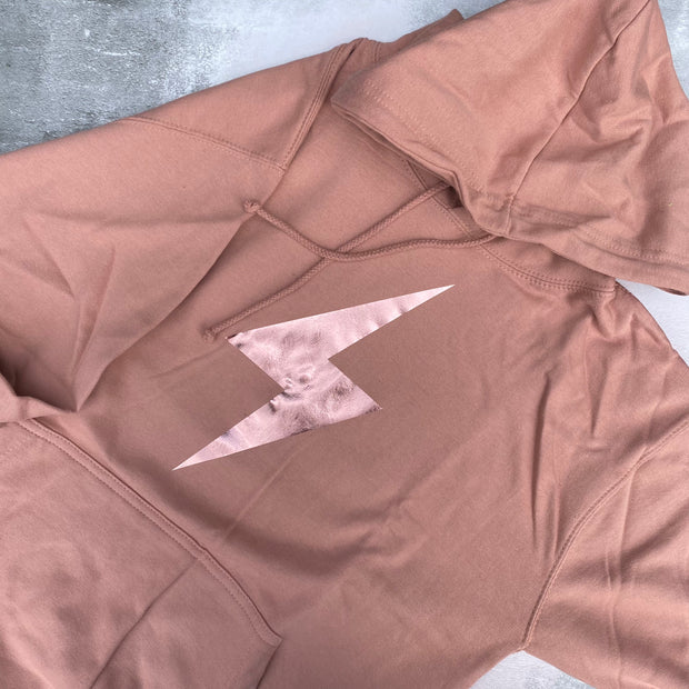 SAMPLE BOLT Boyfriend Fit Hoodie DUSTY PINK