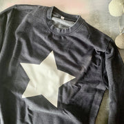 SAMPLE SALE Star Slouchy Womens Sweat Black & Gold