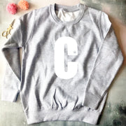 Custom Bold Letter Kids Classic Sweat Navy/White