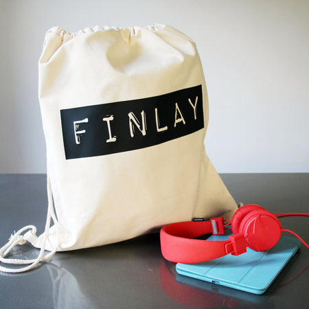 Retro Tape Custom Name Kit Bag