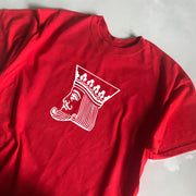King Pin Mens Tee Red/Wht