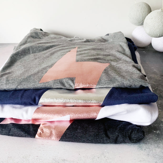 SAMPLE SALE  Bolt Wide Neck Womens Tee VARIOUS