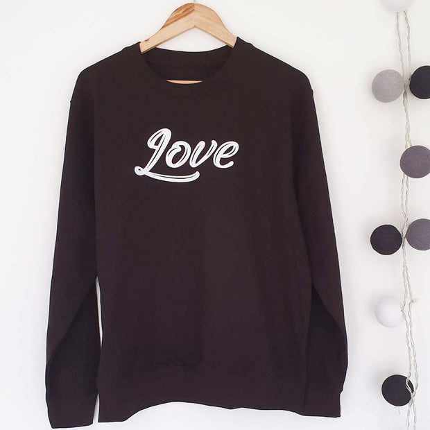 SAMPLE SALE - Love Boyfriend Sweat - Black/ White