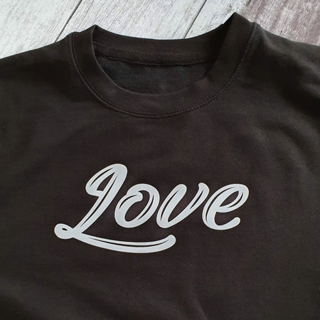 LOVE Boyfriend Fit Sweat - Black/White