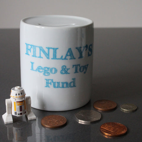 Etched Text Personalised Dream Fund Money Box