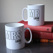Mr & Mrs Couple Personalised Mugs - Set of 2