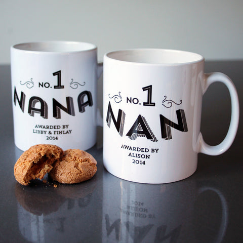 No 1 Grandma Custom Mug