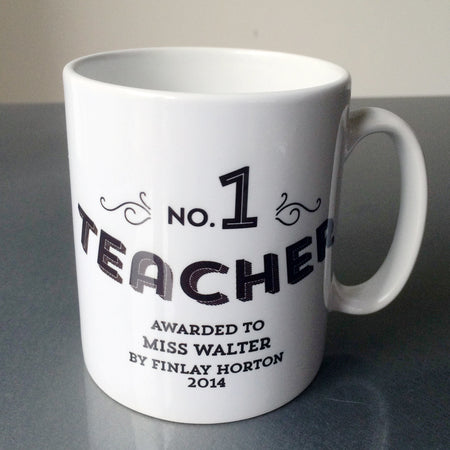 No 1 Teacher Custom Mug