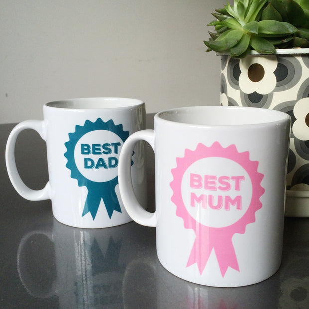 Best Dad Rosette Personalised Mug