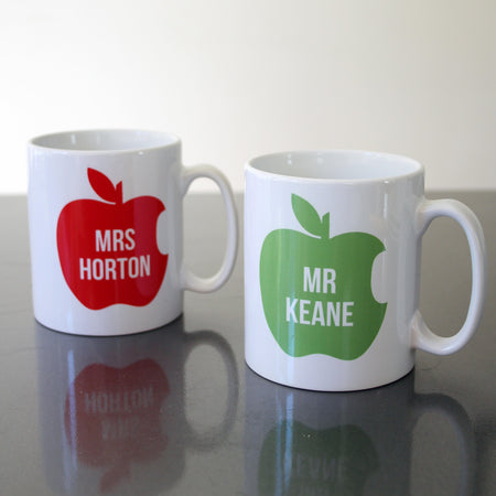 Apple for The Teacher Personalised Mug
