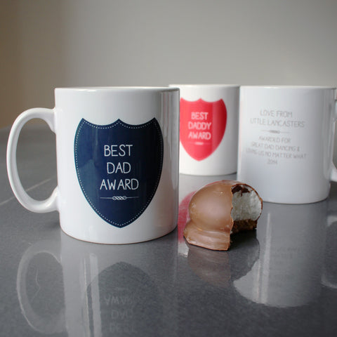 Award Custom Mug for Best Dad