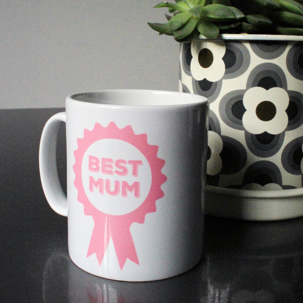 Best Mum Rosette Personalised Mug