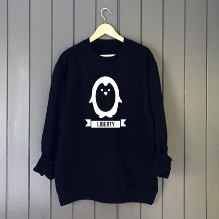 Penguin Custom Kids Glow in the Dark Christmas Jumper Sweat