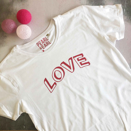 LOVE DOODLE 100% Organic Cotton Classic Tee - White