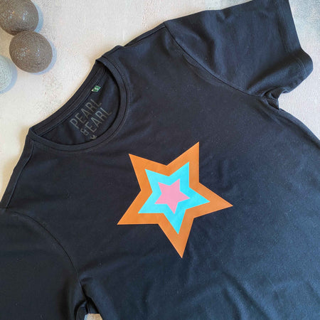 RETRO STAR 100% Organic Cotton Classic Tee - Black