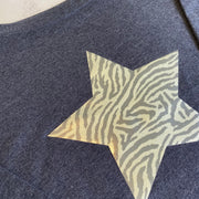 Limited Edition Leopard Star Slounge Sweatshirt/ Blue Marl