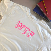 SAMPLE SALE - Neon WTF - White/ Neon Pink