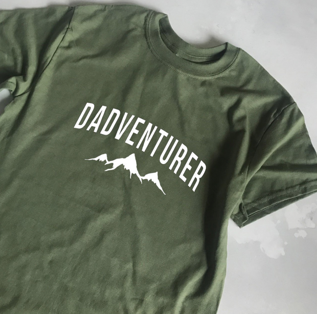 SAMPLE SALE - Dadventurer - Olive/ White