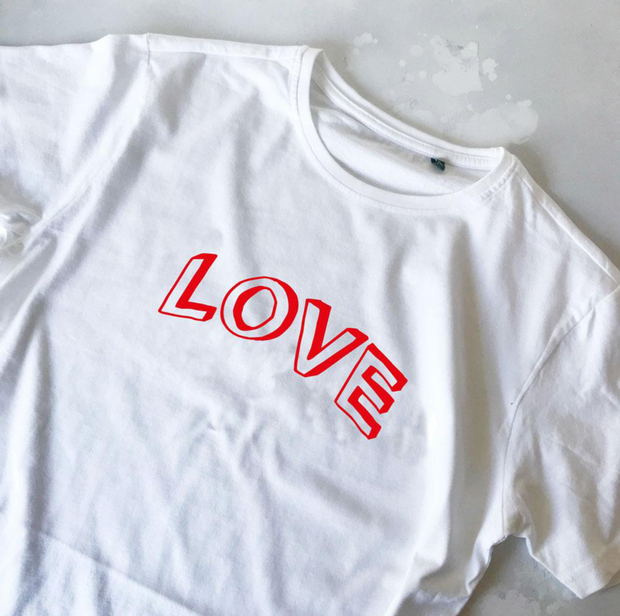 SAMPLE SALE - Doodle Love - White/ Red